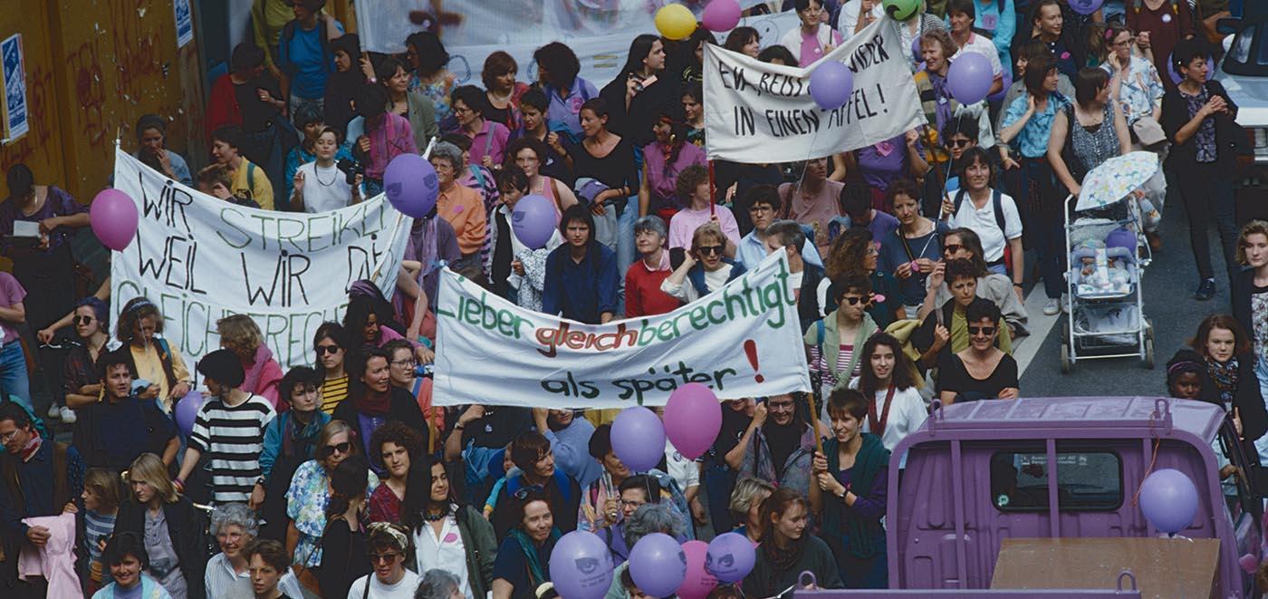 Photo de la manifestation à Zurich 1991